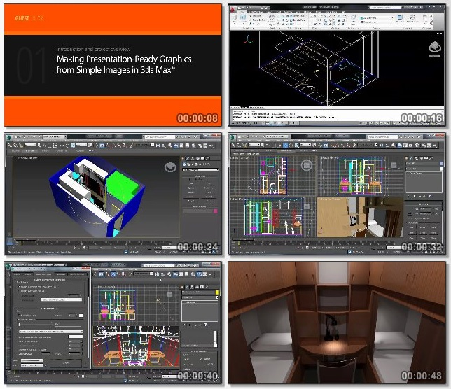 دانلود فیلم آموزشی Making Presentation-Ready Graphics from Simple Images in 3ds Max