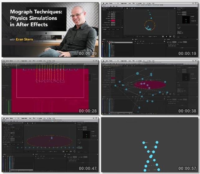 دانلود فیلم آموزشی Mograph Techniques: Physics Simulations in After Effects
