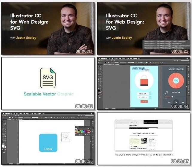 دانلود فیلم آموزشی Illustrator CC for Web Design: SVG از Lynda