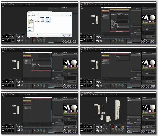 دانلود فیلم آموزشی Realistic Texturing of Modular Structures in Substance Painter 2