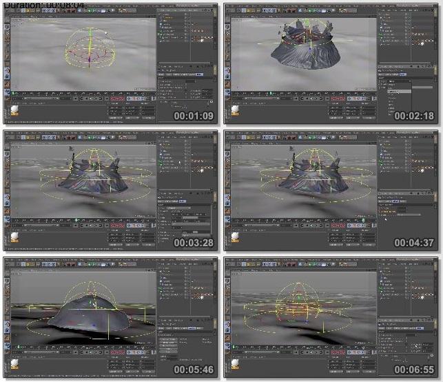 دانلود فیلم آموزشی Cellular Death Animation Using RealFlow and Cinema 4D