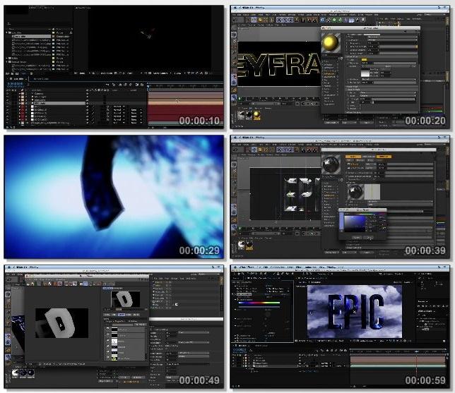 دانلود فیلم آموزشی Mograph Techniques: Movie Trailer Titles in Cinema 4D and After Effects