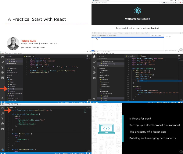 A Practical Start with React center