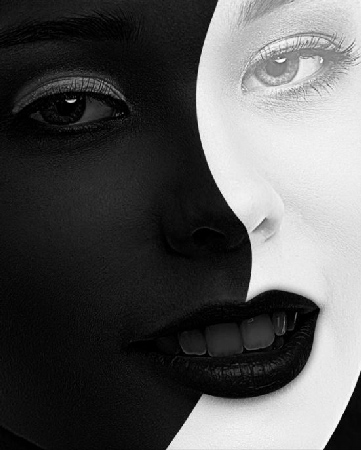 Black and White Image Retouch Photoshop Action center