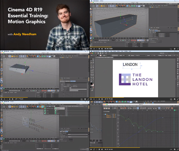 Cinema 4D R19 Essential Training: Motion Graphics center