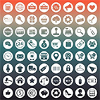 Collection of +400 Icons in Vector logo