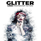 Glitter Lines Photoshop Action logo