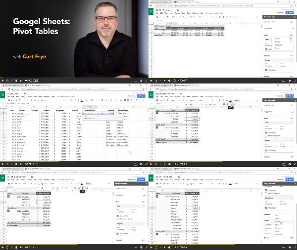 Google Sheets: Pivot Tables center