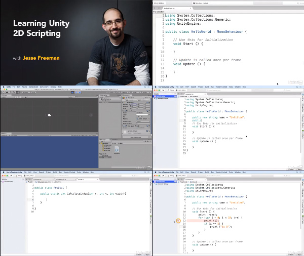 Learning Unity 2D Scripting center