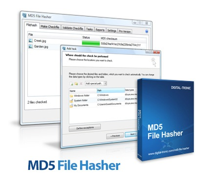 MD5 File Hasher logo center