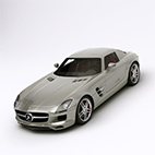 Mercedes Benz SLS AMG 3d model logo
