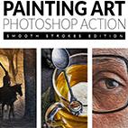 Painting Art Photoshop Action logo