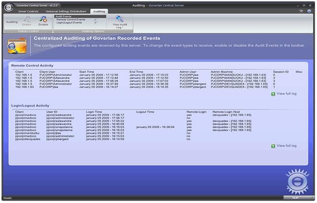 Remote Desktop Audit center