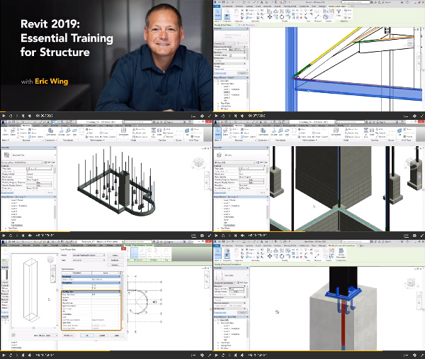 Revit 2019: Essential Training for Structure center