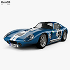 Shelby Cobra Daytona 1964 3d model logo