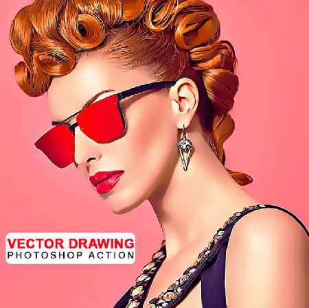 Vector Drawing Photoshop Action center