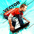 Vector Painting Photoshop Action logo
