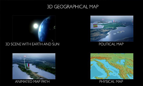 Videohive 3D Geographical Map center