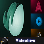 Videohive 3D Minimal Dark Logo Reveal logo