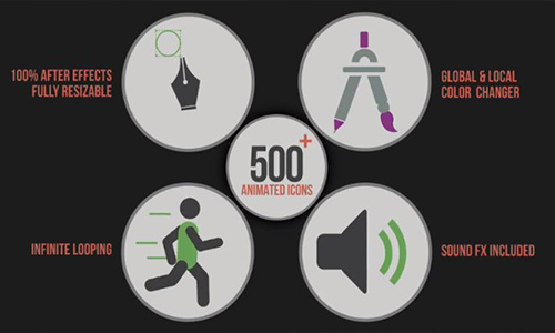 Videohive Animated Icons +500 center