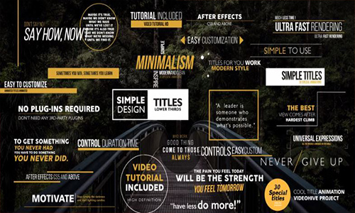 Videohive Gold Simple Titles v5 center