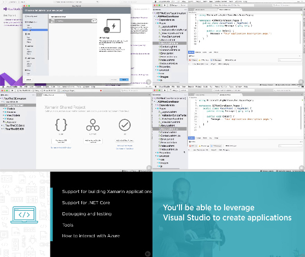 Visual Studio for Mac center