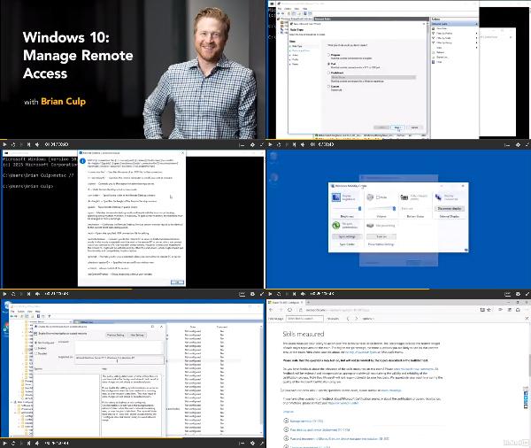 Windows 10: Manage Remote Access center