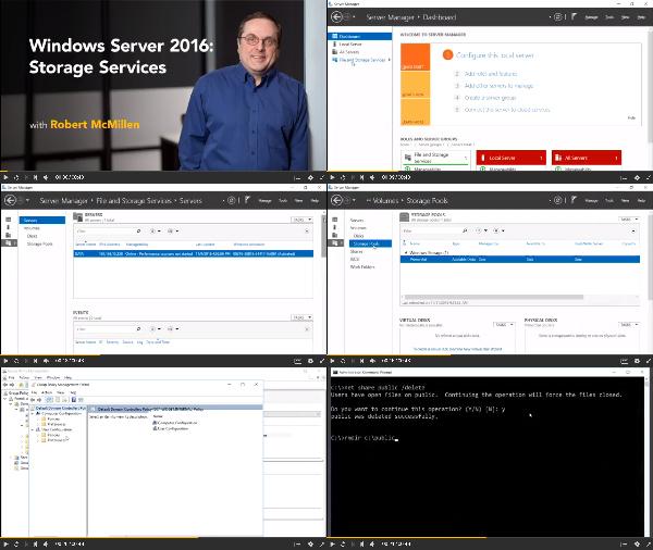 Windows Server 2016: Storage Services center
