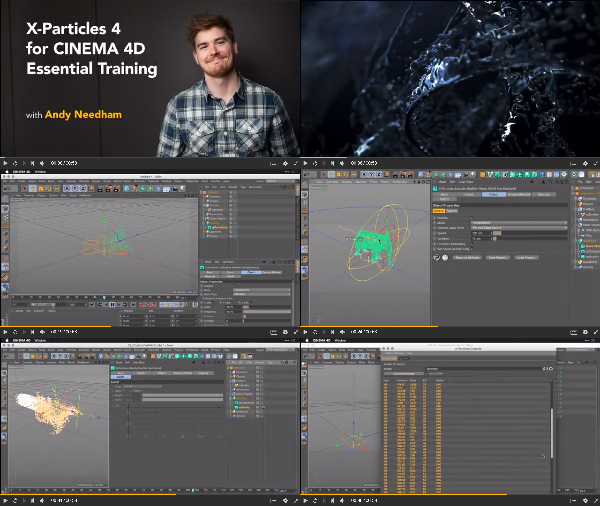 X-Particles 4 for Cinema 4D Essential Training center