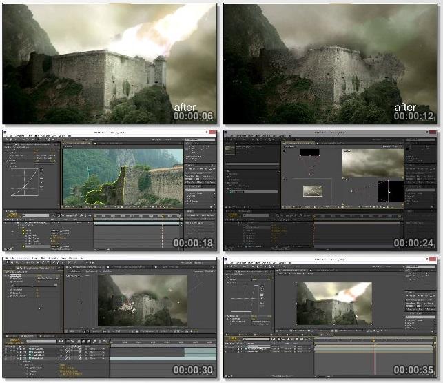 دانلود فیلم آموزشی VFX Techniques: Creating Explosions with 3D Layers