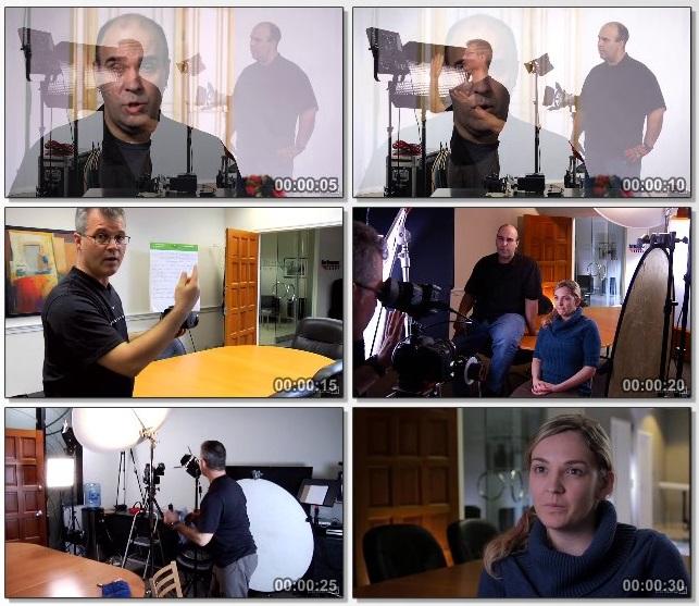 دانلود فیلم آموزشی Lighting a Video Interview از Lynda