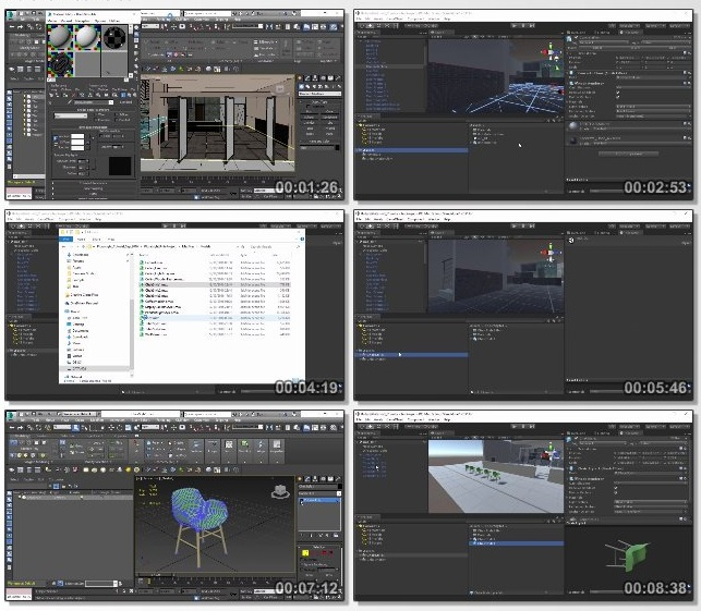 دانلود فیلم آموزشی Creating Walk-throughs for Unity with Enlighten Using 3ds Max