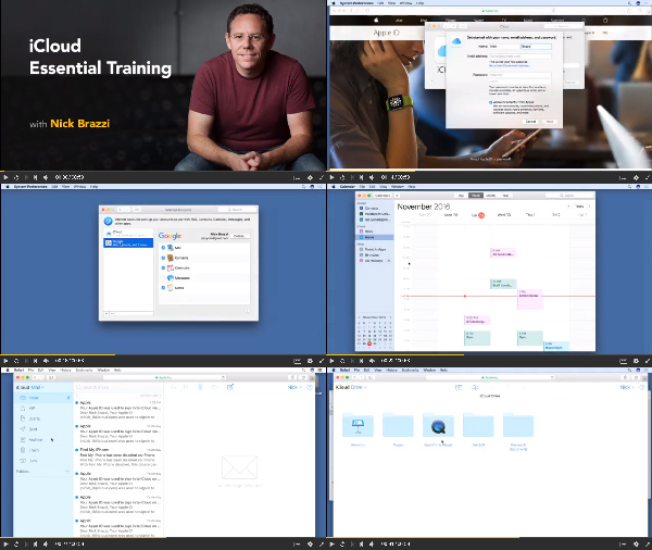 iCloud Essential Training center