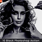 10Dark Black Photoshop Action logo