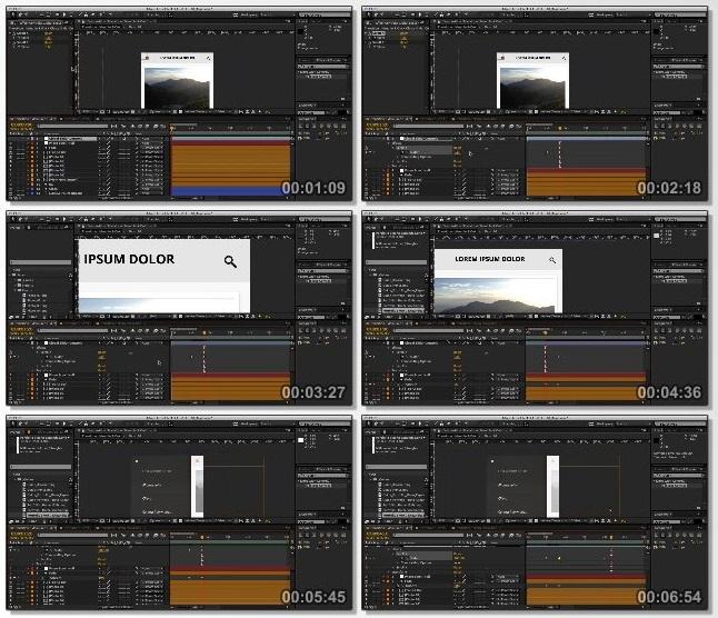 دانلود فیلم آموزشی Creating a UI/UX Motion Study in After Effects
