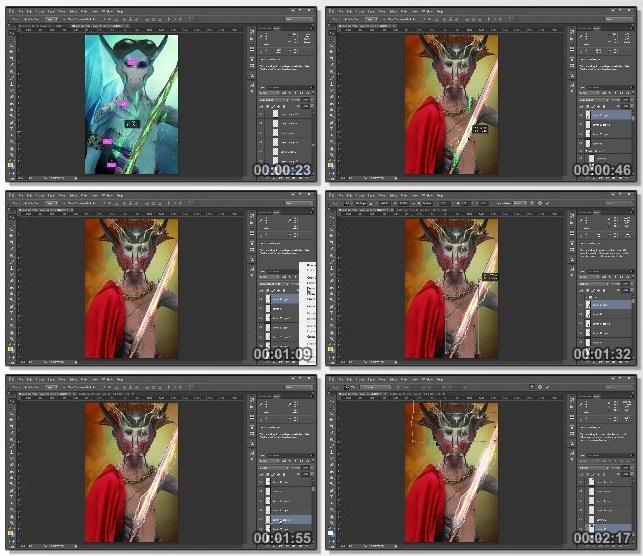 دانلود فیلم آموزشی Photo Manipulation Techniques: Character Design Process