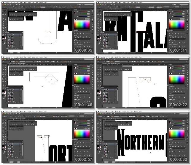دانلود فیلم آموزشی Recreating Retro Typefaces for Logos in Illustrator