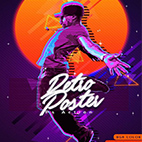 80s Retro Poster Photoshop Action logo