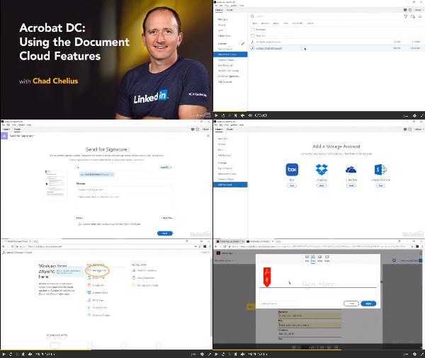 Acrobat DC: Using the Document Cloud Features center