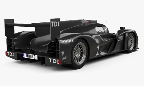 Audi R18 TDI 2011 3D model center