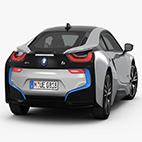 BMW i8 2015 3D Model logo
