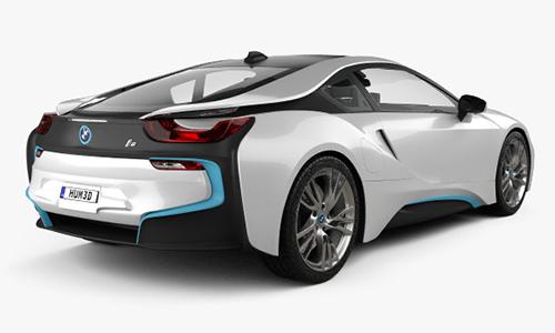 BMW i8 2015 3D Model center
