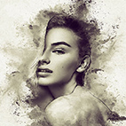 Charcoal Art - Realistic Dust Photoshop Action logo