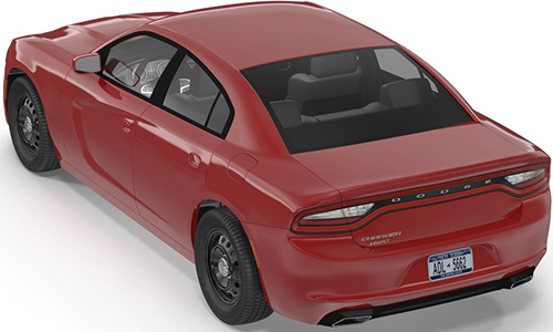Dodge Charger 2015 3D Model center