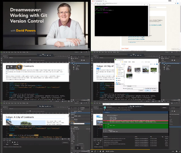 Dreamweaver: Working with Git Version Control center