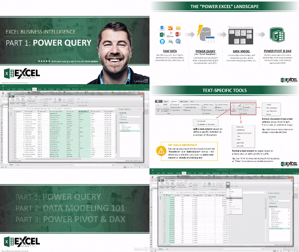 Excel Business Intelligence Part 1: Power Query center