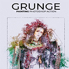 Grunge Painting Photoshop Action logo