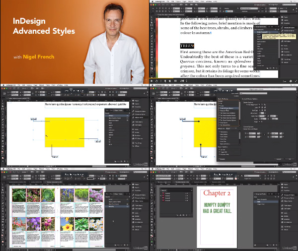InDesign: Advanced Styles center