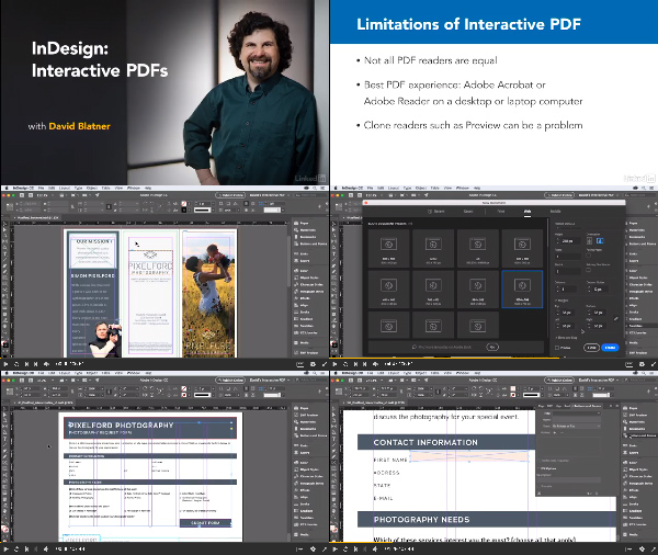 InDesign: Interactive PDFs center