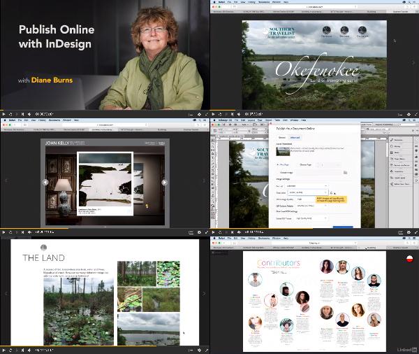 InDesign: Publish Online center